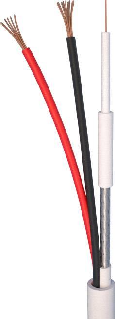 AV kabel ELAN 82251, 2 x 0.50 mm², bílá, metrové zboží