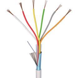 Alarmový kabel LiYY ELAN 70I140, 6 x 0.22 mm², bílá, 10 m