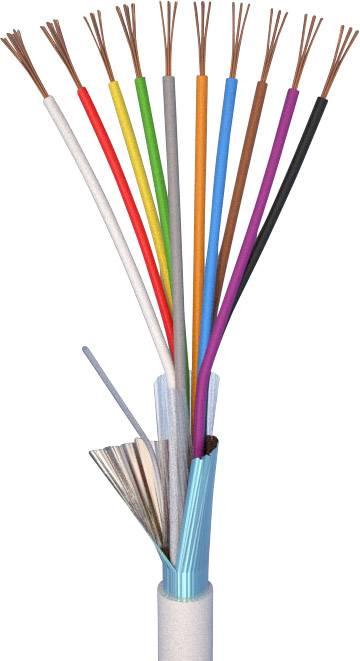 Alarmový kabel LiYY ELAN 20101, 10 x 0.22 mm², bílá, metrové zboží
