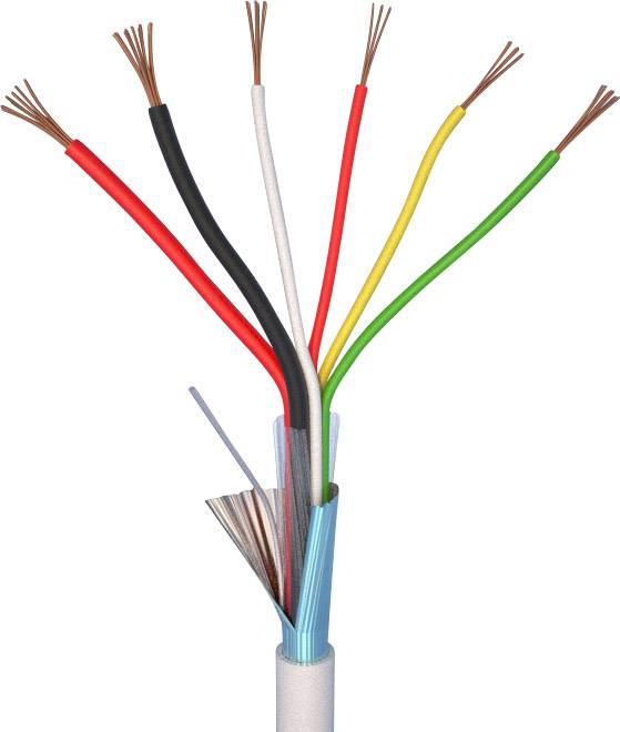 Alarmový kabel LiYY ELAN 25041, 4 x 0.22 mm² + 2 x 0.50 mm², bílá, metrové zboží