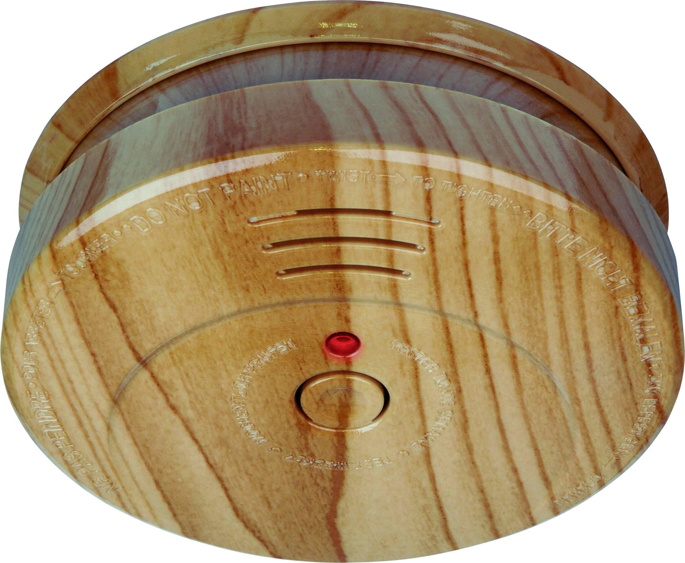 Detektor dymu so vzhľadom dreva Smartwares RM149H, vr. batérie so životnosťou 5 rokov