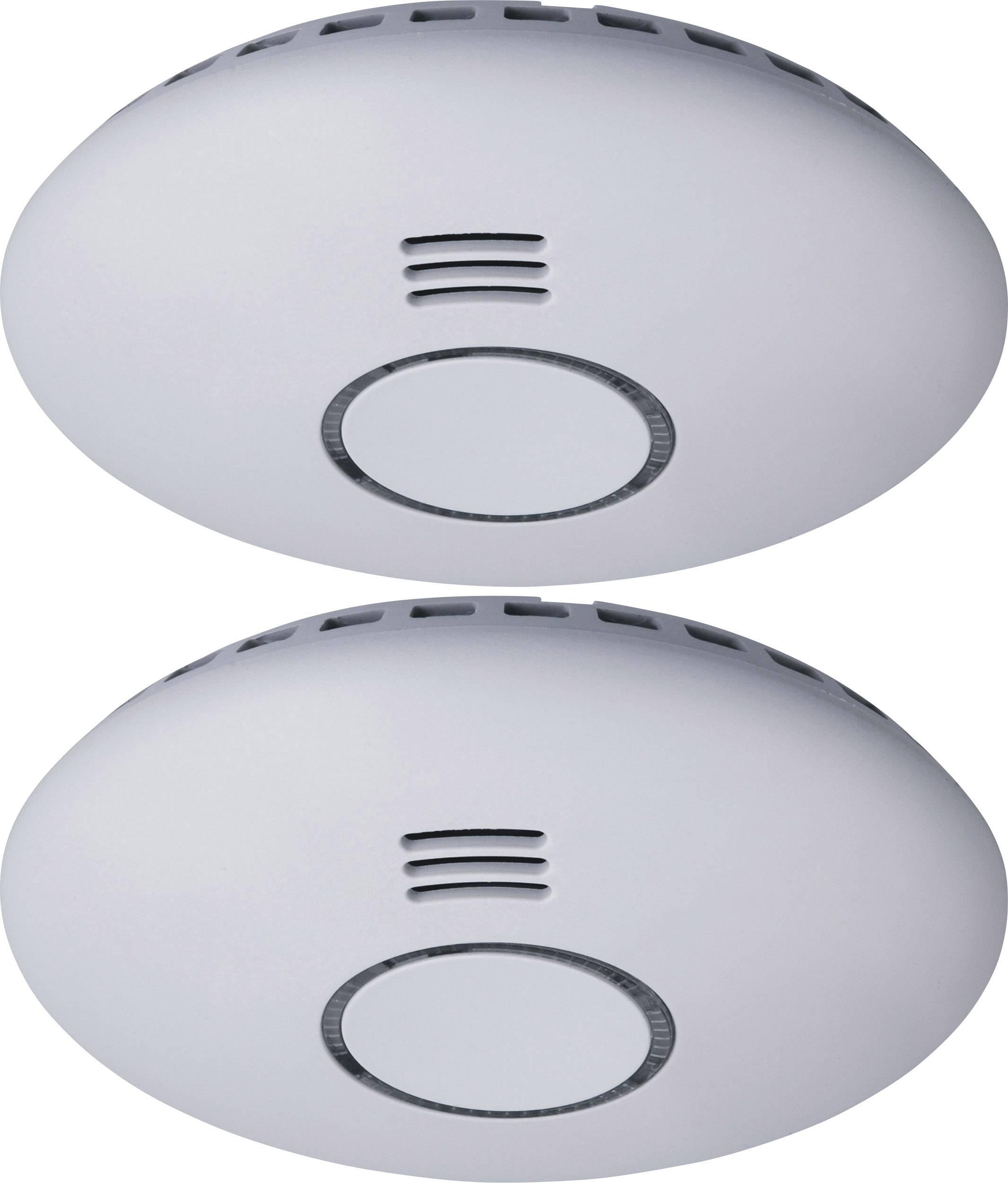 Bezdrátový detektor kouře Smartwares RM174RF/2, na baterii, s možností propojení, sada 2 ks