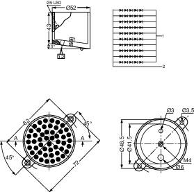 LEDreflektor Kingbright BL0106-15-39, 9.3 V, 6000 mcd, BL0106-15-39, červená