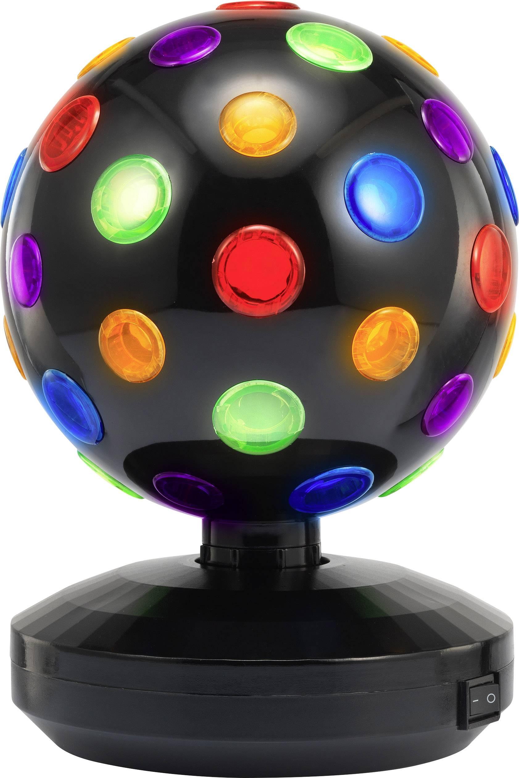 LED disco guľa DISCOBALL 18,5 CM Počet žiaroviek: 6, farebná