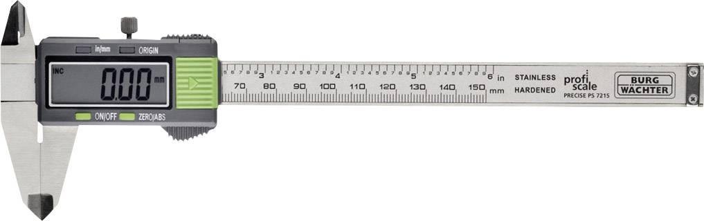 Digitální posuvné měřítko Burg Wächter PRECISE PS 7215 72150, měřicí rozsah 150 mm, Kalibrováno dle bez certifikátu