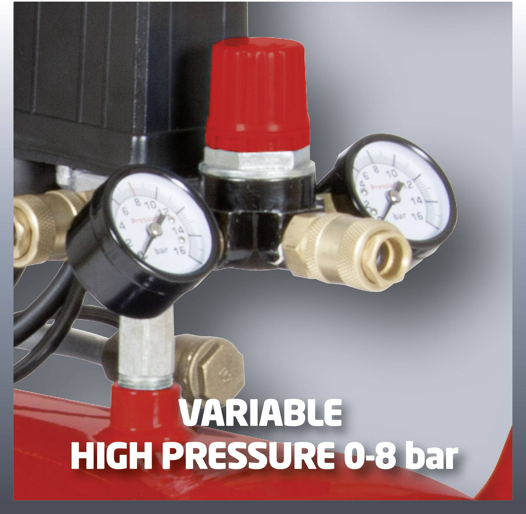 Piestový kompresor Einhell TC-AC 400/50/8 Kit 4010252, objem tlak. nádoby 50 l