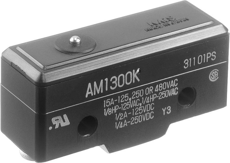 Koncový spínač Panasonic AM1300F, 250 V/AC, 10 A, tŕň, bez aretácie, IP40, 1 ks