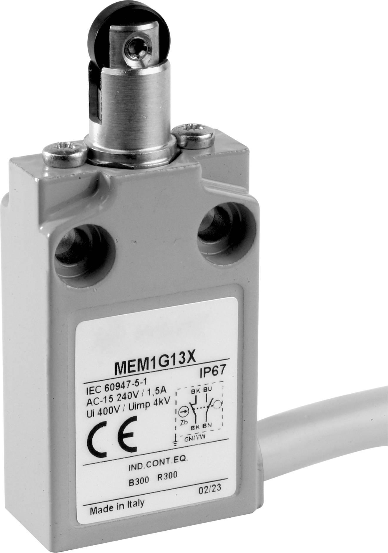 Koncový spínač Panasonic MEM1G12ZD, 24 V, 5 A, kladka otočná, IP67, 1 ks