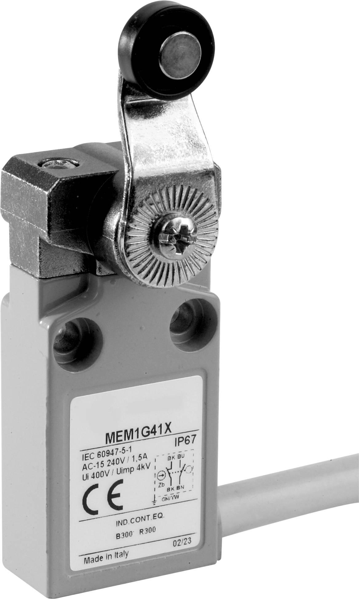 Koncový spínač Panasonic MEM1G41ZD, 24 V, 5 A, páka s rolnou, IP67, 1 ks