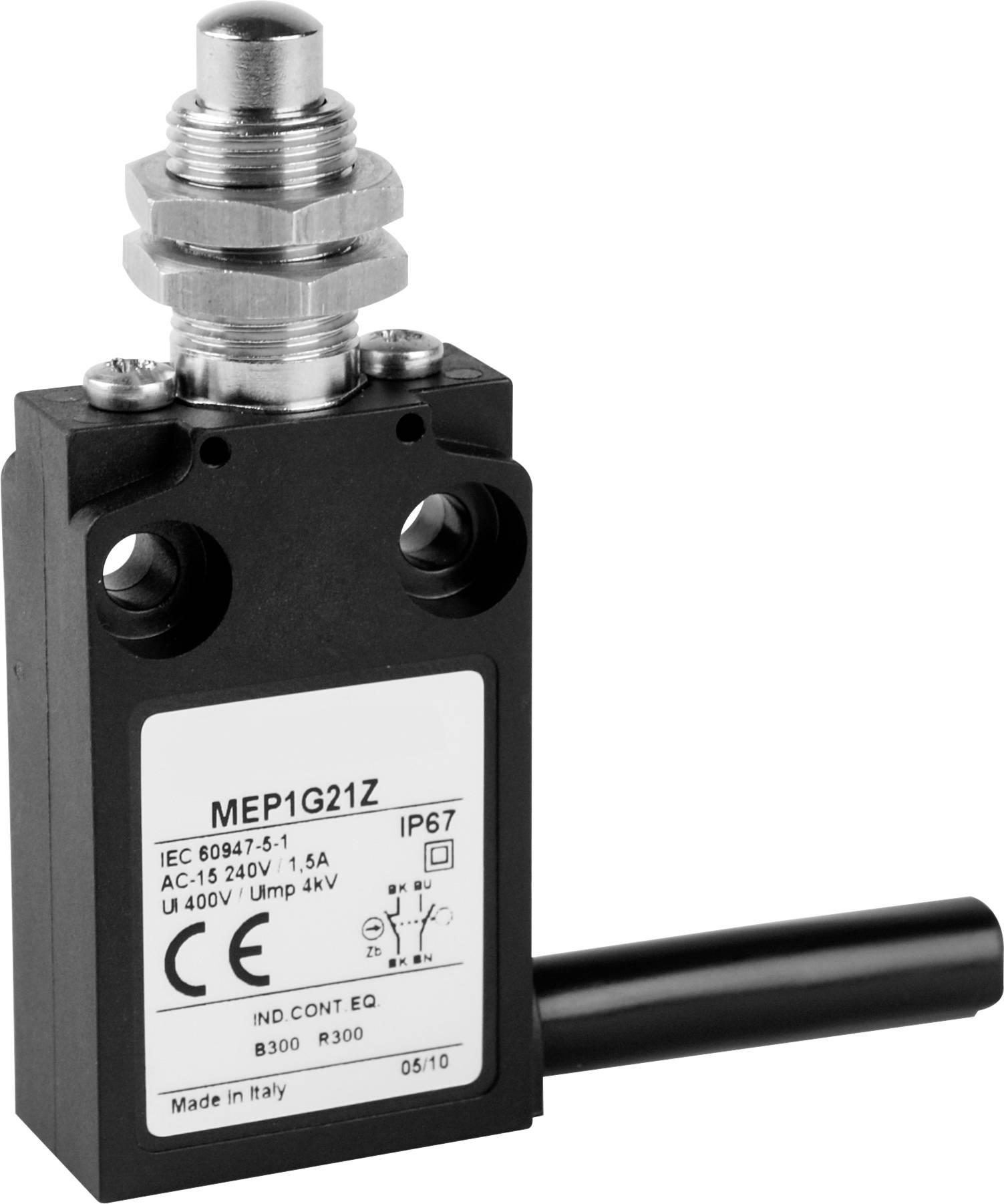 Koncový spínač Panasonic MEP1G21Z, 24 V, 5 A, zdvihátko se závitem, IP67, 1 ks