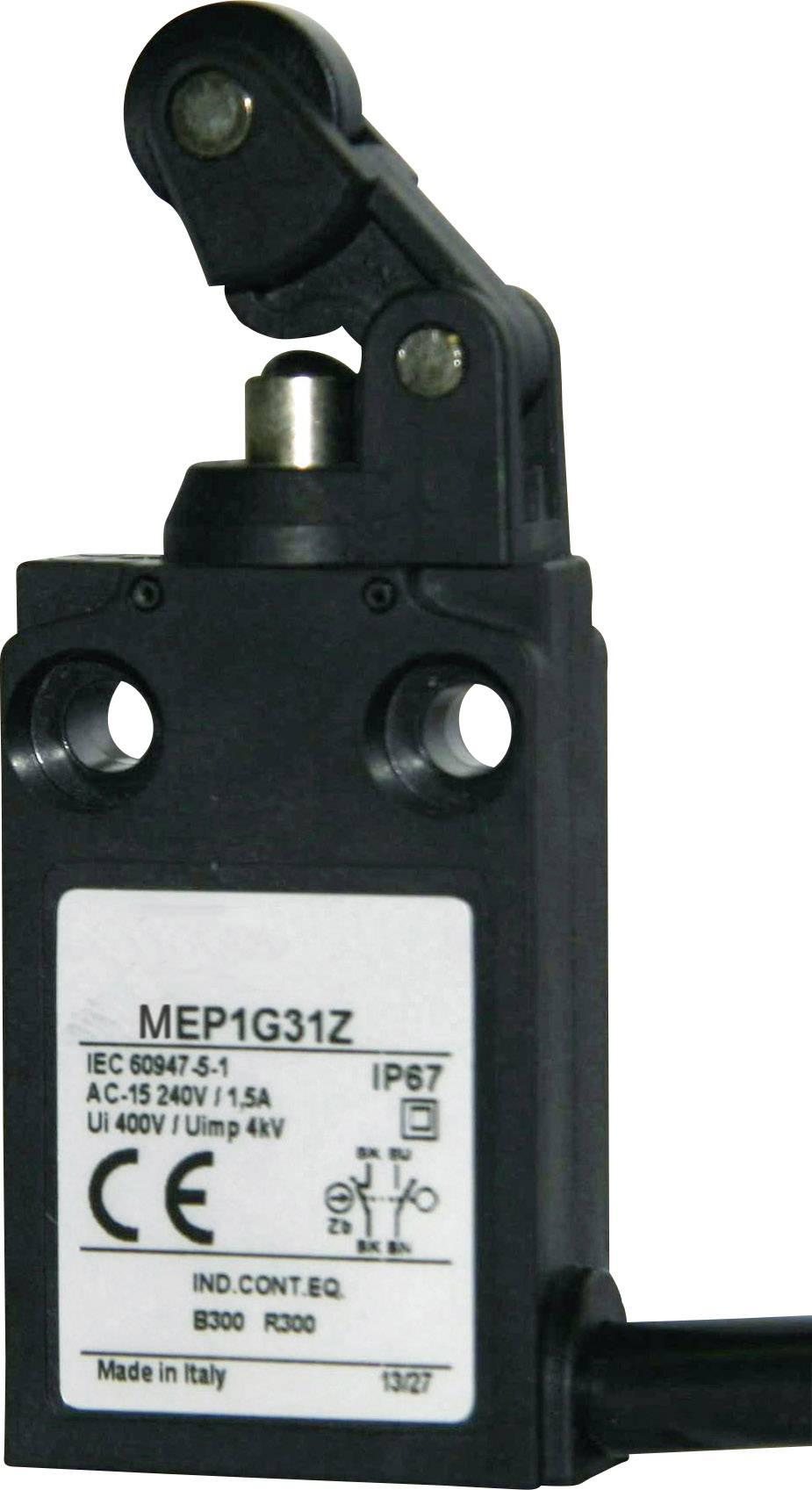 Koncový spínač Panasonic MEP1G31Z, 24 V, 5 A, páka s rolnou, IP67, 1 ks
