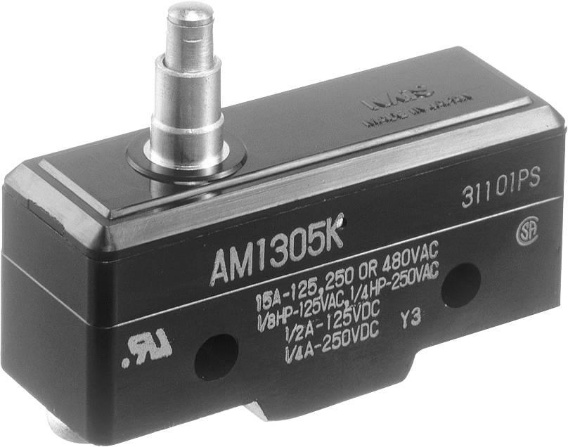 Koncový spínač Panasonic AM1305F, 250 V/AC, 10 A, tŕň, bez aretácie, IP40, 1 ks