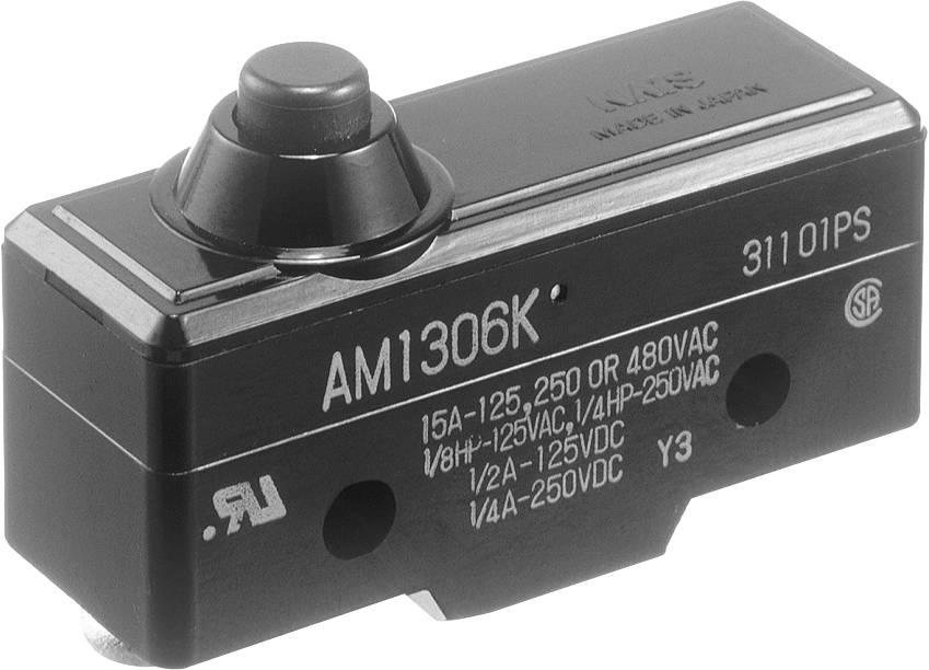 Koncový spínač Panasonic AM1306F, 250 V/AC, 10 A, tŕň, bez aretácie, IP40, 1 ks
