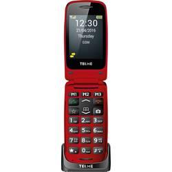 Telme X200 telefon pro seniory - véčko nabíjecí stanice, tlačítko SOS červená