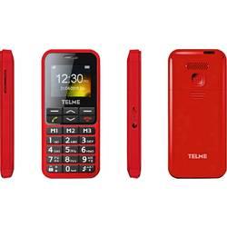 Telme C151 telefon pro seniory nabíjecí stanice, tlačítko SOS červená