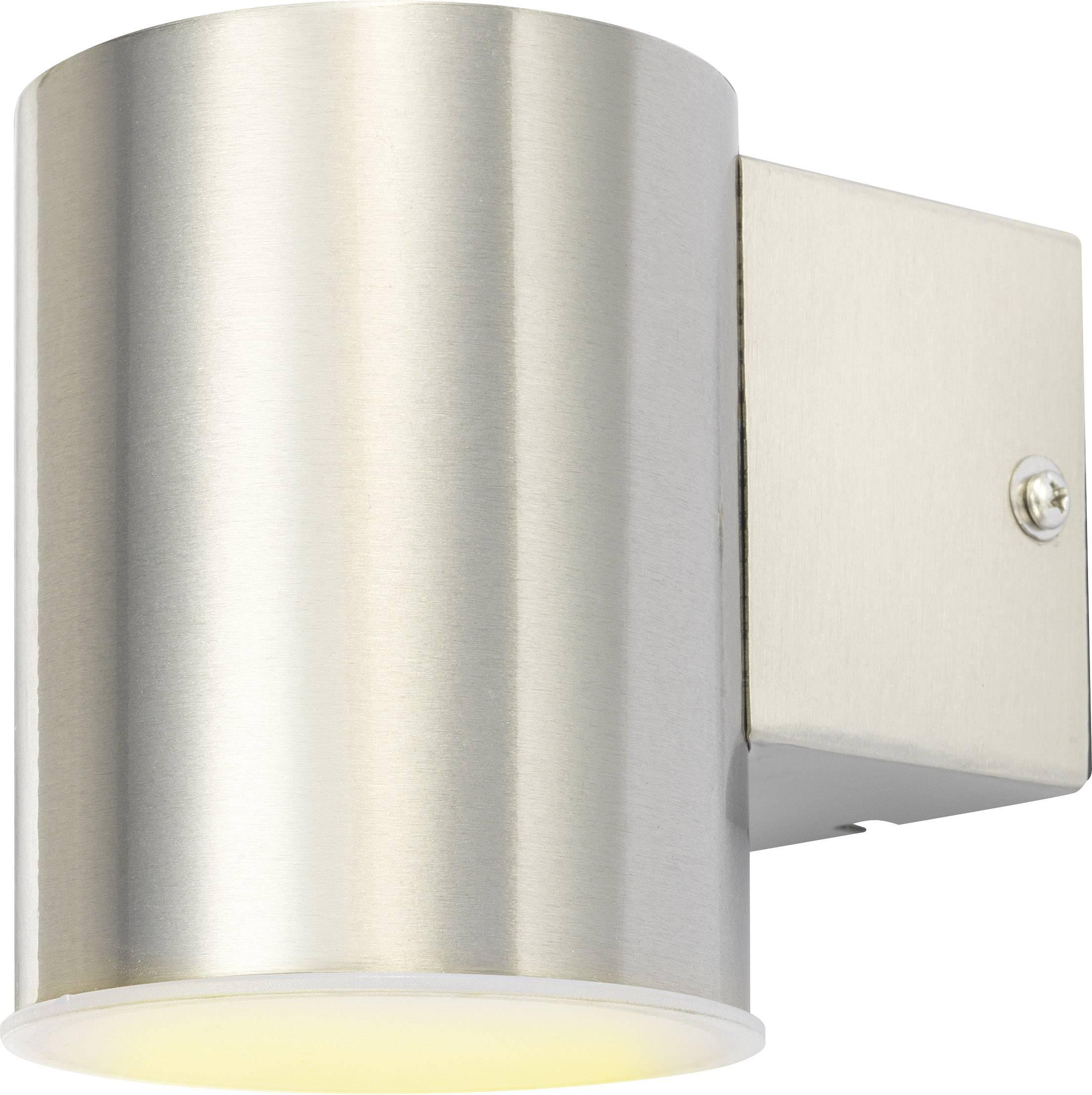 LEDvonkajšie nástennéosvetlenie 7 W teplá biela Polarlite HY0004DN-1R nerezová oceľ kartáčovaná