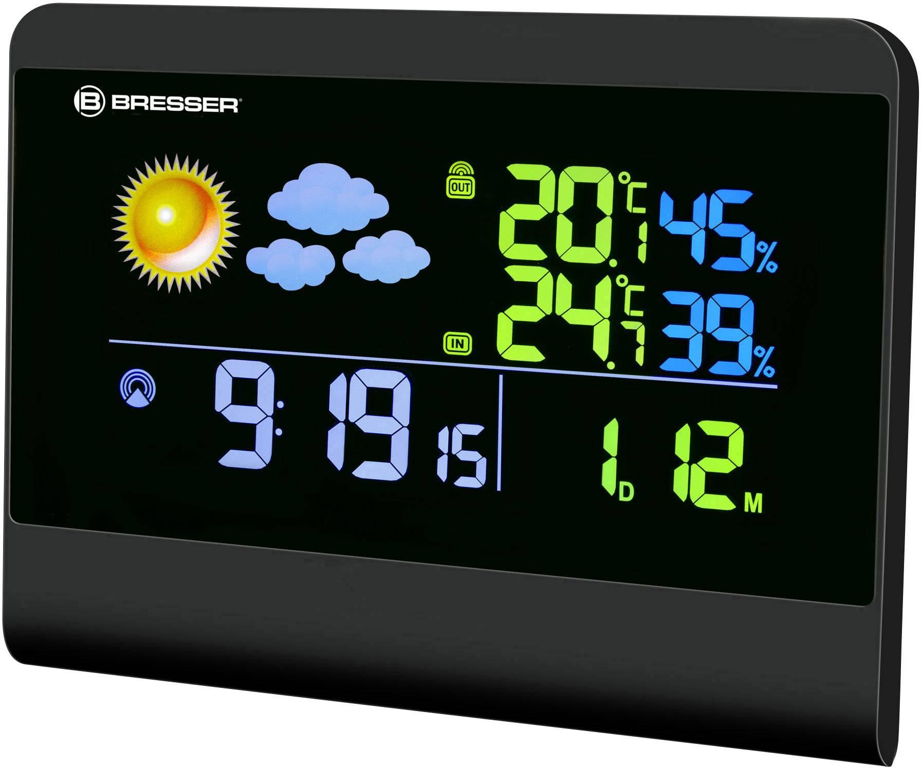 Digitálna bezdrôtová meteostanica Bresser Optik TemeoTrend Colour 7007300CM3000, čierna