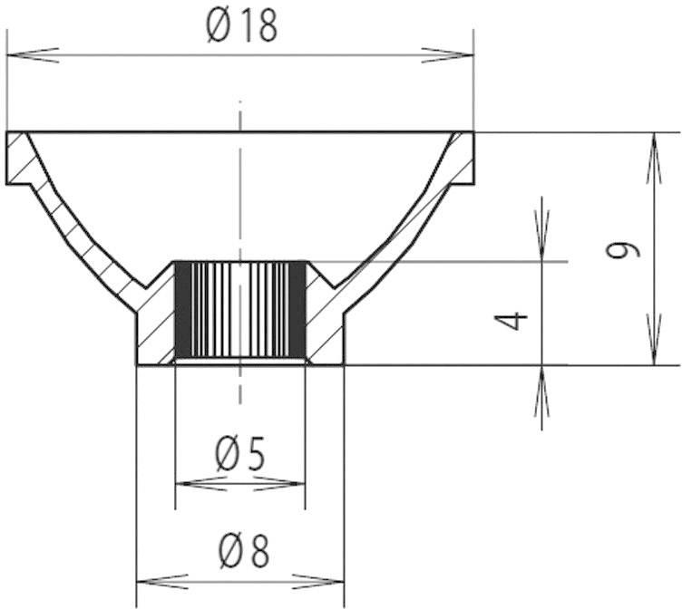 Reflektor pro LED a žárovky Mentor 2451.5100, Ø 5 mm