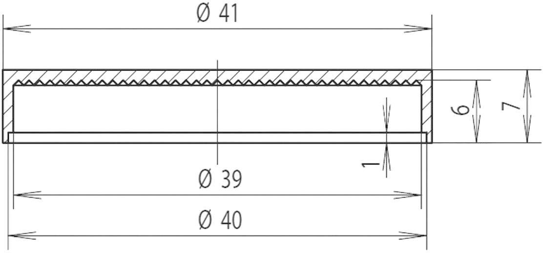 Světelná krytka pro reflektor Mentor, 2510.0300, 40 mm, (Ø x v) 41 mm x 7 mm, čirá