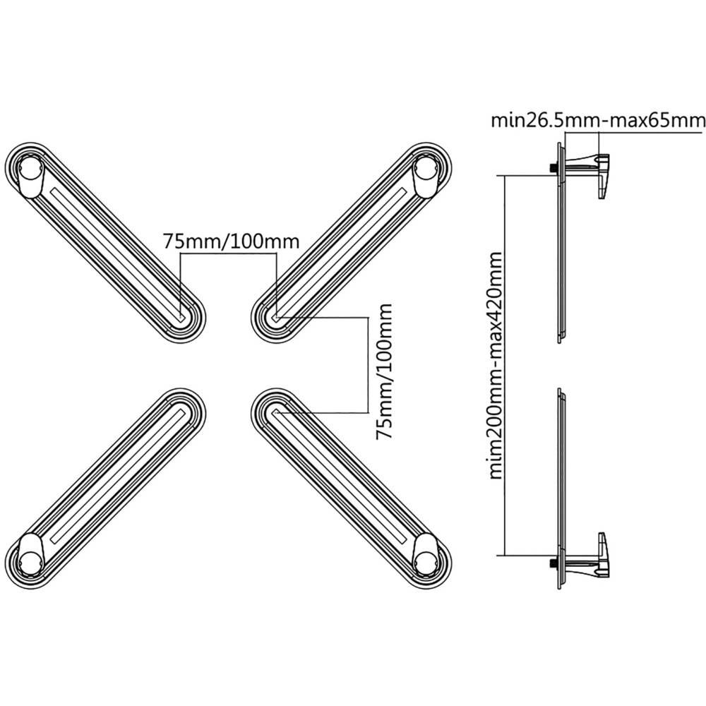 VESA adaptér SpeaKa Professional SP-5986120, (š x v x h
