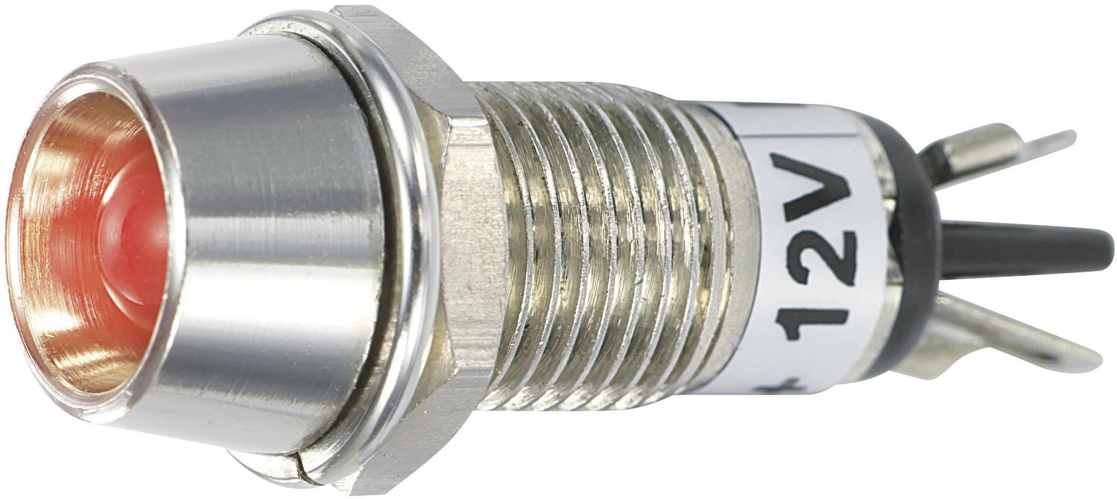 IndikačnéLED SCI R9-115L 12 V RED, 12 V/DC, červená