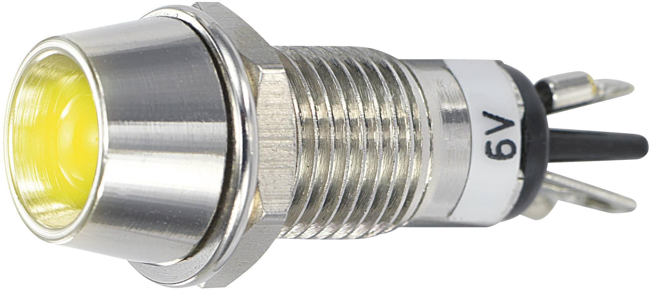 IndikačnéLED SCI R9-115L 6 V YELLOW, 6 V/DC, žltá