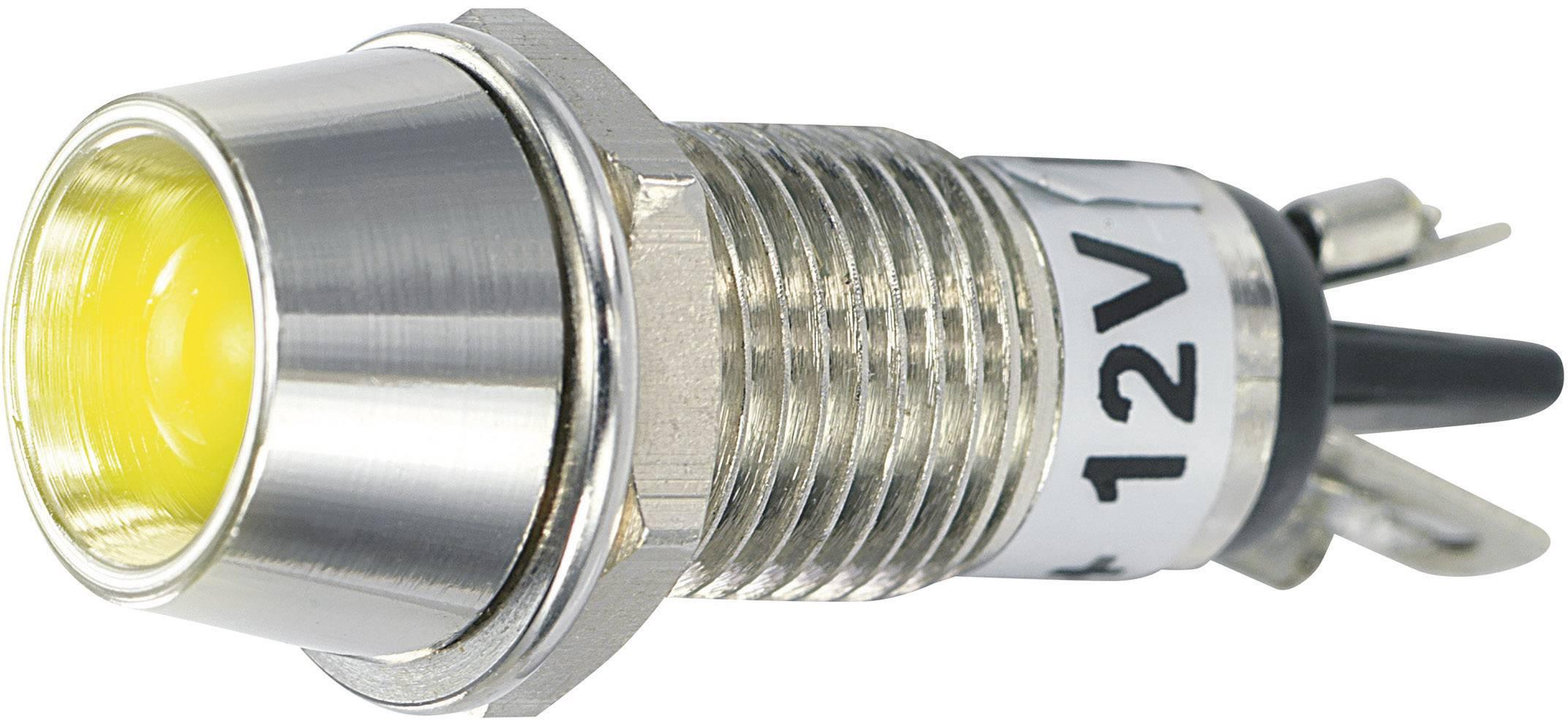 IndikačnéLED TRU COMPONENTS TC-R9-115L 12 V YELLOW, 12 V/DC, žltá