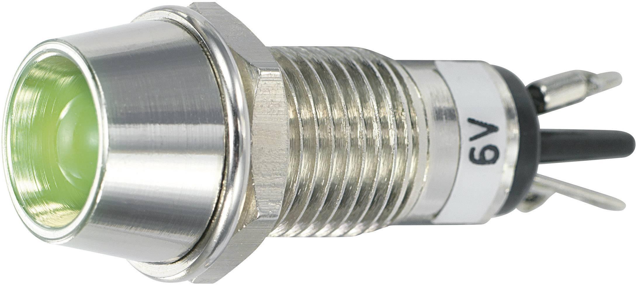 IndikačnéLED SCI R9-115L 6 V GREEN, 6 V/DC, zelená