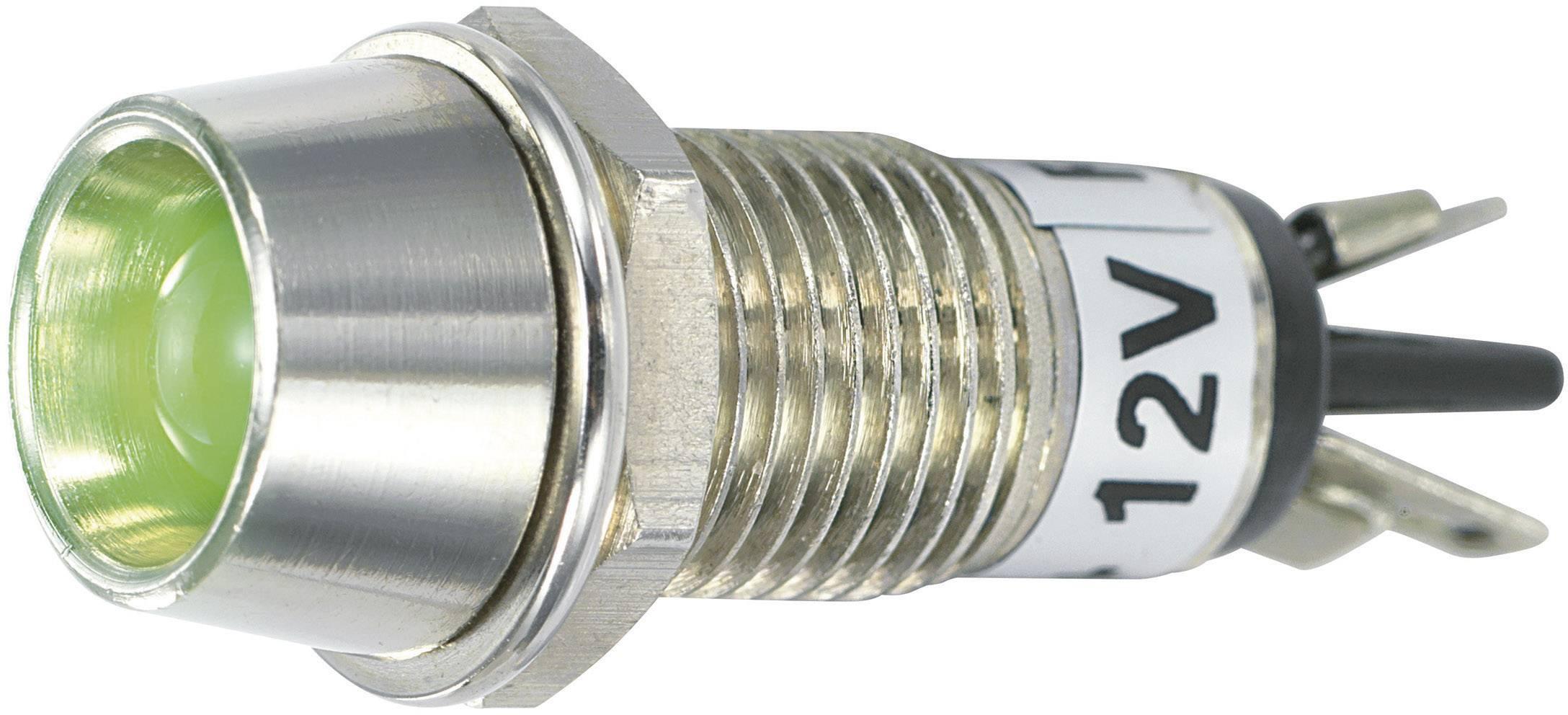 IndikačnéLED SCI R9-115L 12 V GREEN, 12 V/DC, zelená