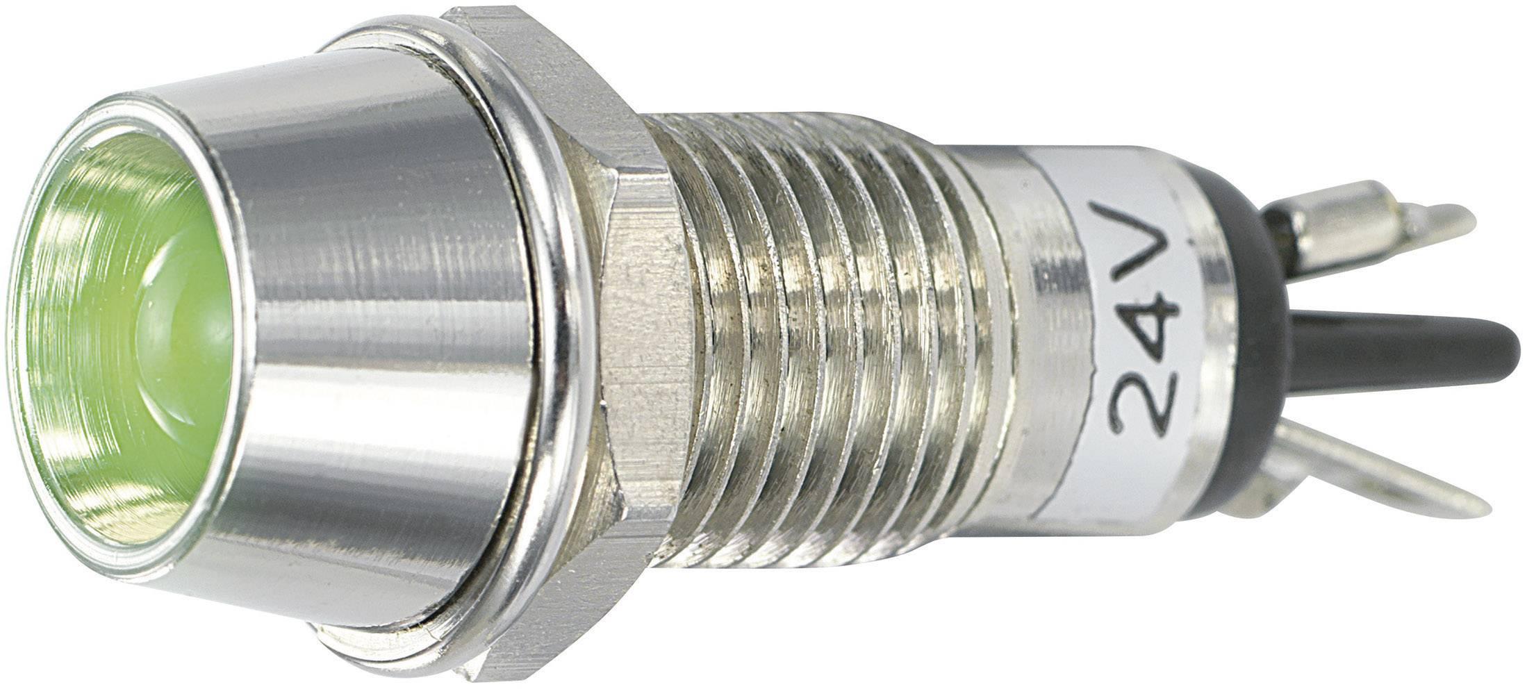 LED signálka SCI R9-115L 24 V GREEN, vnitřní reflektor 5 mm, 24 V/DC, zelená