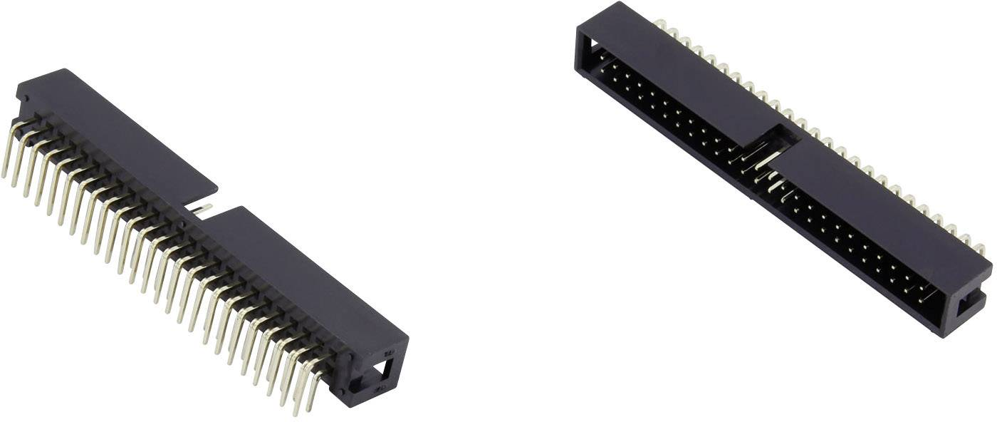 Konektor pre ploché káble Connfly DS1013-20RSIB-B-0, raster: 2.54 mm, počet pólov: 20, 1 ks
