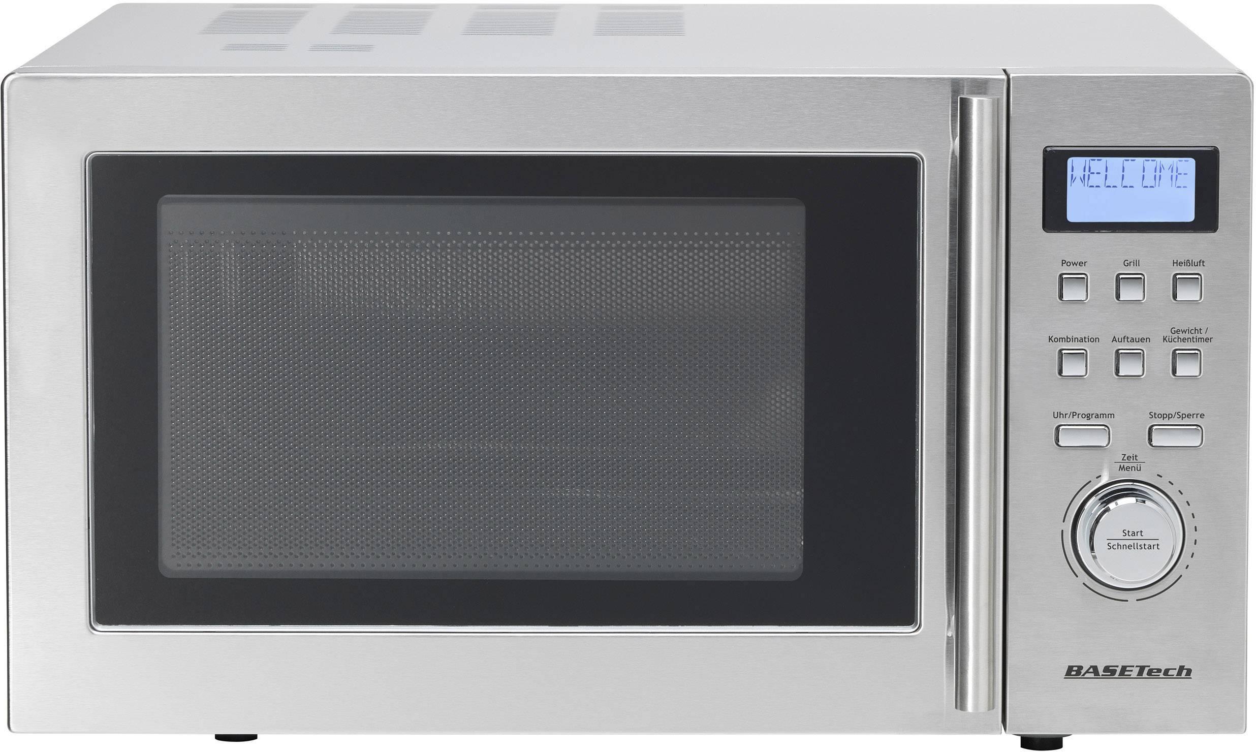 Mikrovlnná trouba Basetech D90D25, 900 W, funkce grilování, horkovzdušný, funkce časovače