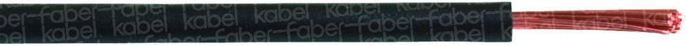 Opletenie / lanko Faber Kabel 040818 H05V-K, 1 x 0.75 mm², vonkajší Ø 2.30 mm, metrový tovar, tmavomodrá, biela