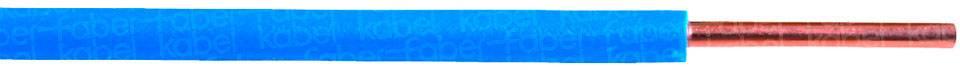 Spojovací drôt Faber Kabel 040022 H05V-U, 1 x 1 mm², vonkajší Ø 2.30 mm, metrový tovar, modrá