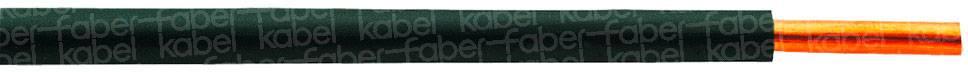 Spojovací drôt Faber Kabel 040098 H07V-U, 1 x 1.50 mm², vonkajší Ø 2.70 mm, metrový tovar, sivá