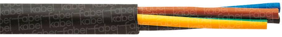 Vícežílový kabel Faber Kabel H05VV-F, 030039, 2 x 2.50 mm², černá, metrové zboží