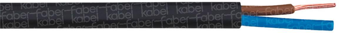 El. kábel hadicový H03VVH2-F Faber Kabel 031049, 2 x 0.75 mm², čierna, metrový tovar