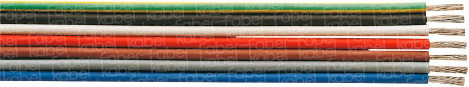 Lanko/ licna Faber Kabel SiF, 1 x 0.25 mm², vnější Ø 1.80 mm, červená, metrové zboží