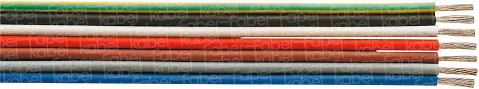 Opletenie / lanko Faber Kabel 031074 SiF, 1 x 0.25 mm², vonkajší Ø 1.80 mm, metrový tovar, červená