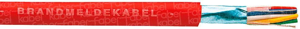 Kabel pro požární hlásiče J-Y(ST)Y Faber Kabel 100058, 6 x 2 x 0.8 mm, červená, metrové zboží