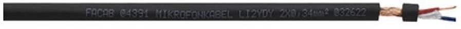 Mikrofónový kábel Faber Kabel 0352050400500, 2 x 0.22 mm², čierna, metrový tovar