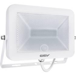 Venkovní LED reflektor s PIR detektorem GEV Flat 018785, 20 W, neutrálně bílá, bílá