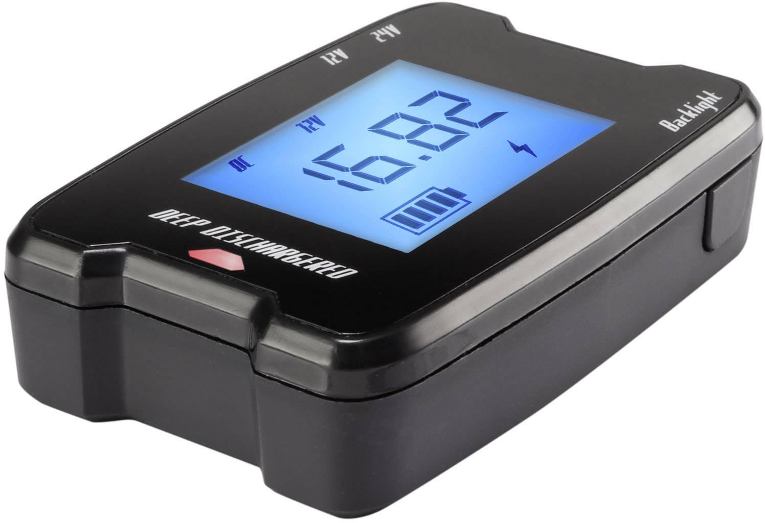 Vreckový tester autobatérií Basetech 12/24 V MW 336 do autozásuvky 12 V, 24 V