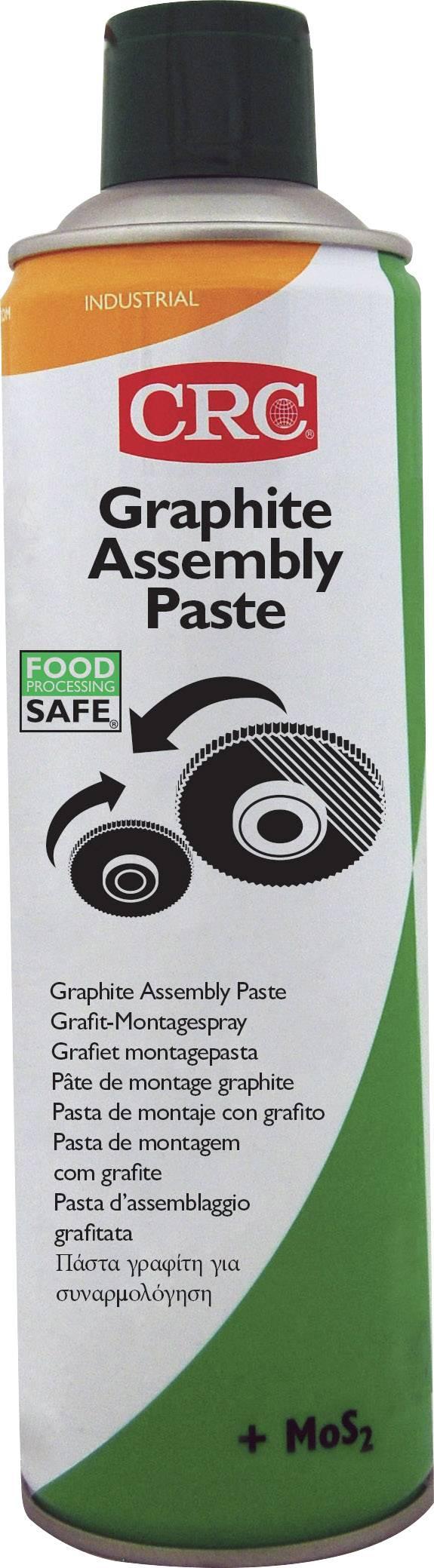 Montážní sprej GRAPHITE ASSEMBLY PASTE CRC, GRAFIT ASSEMBLY PASTA 500ml, 32639-AA 500 ml
