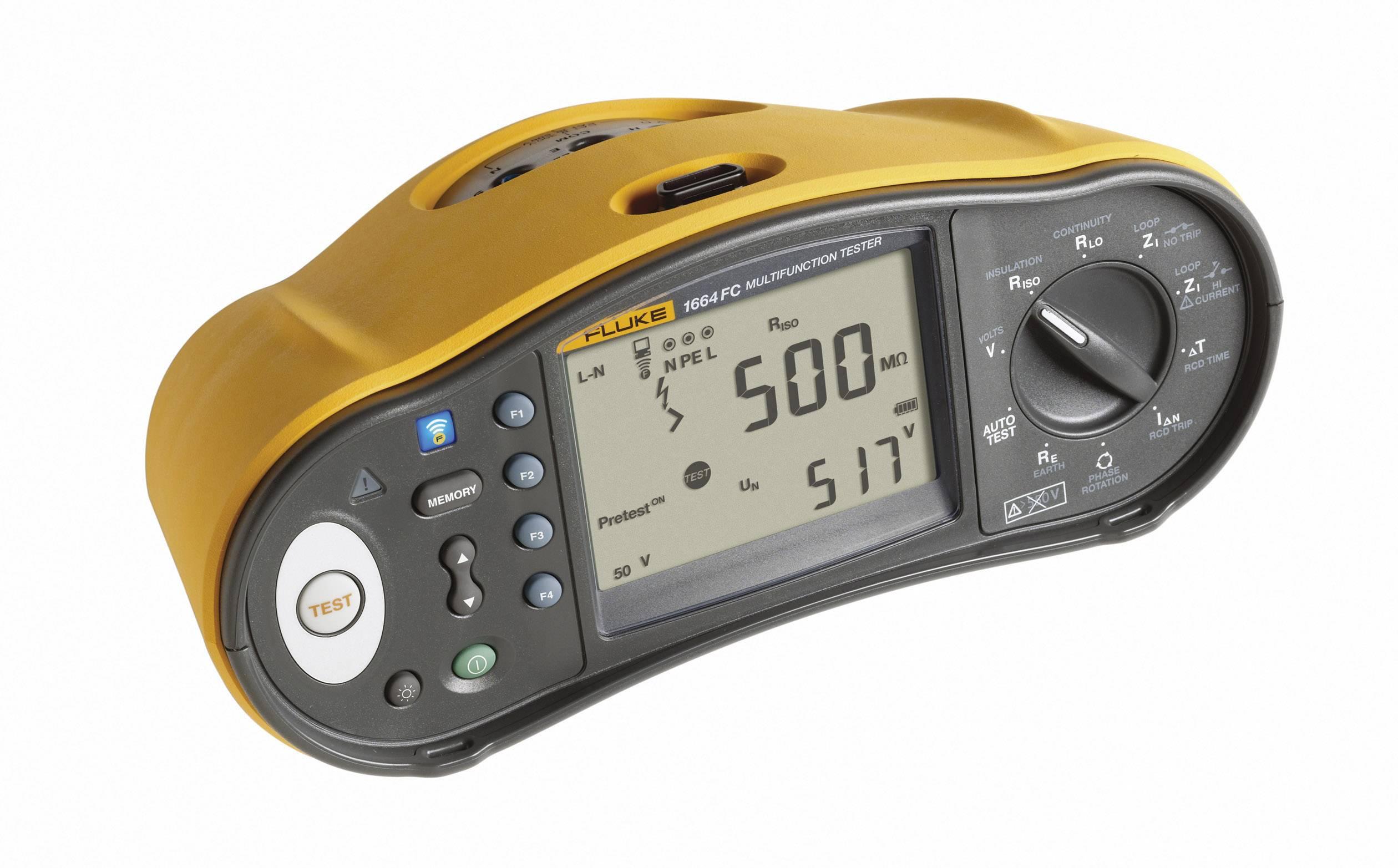 Tester instalací Fluke 1664 SCH-3HR SEM se softwarem DMS