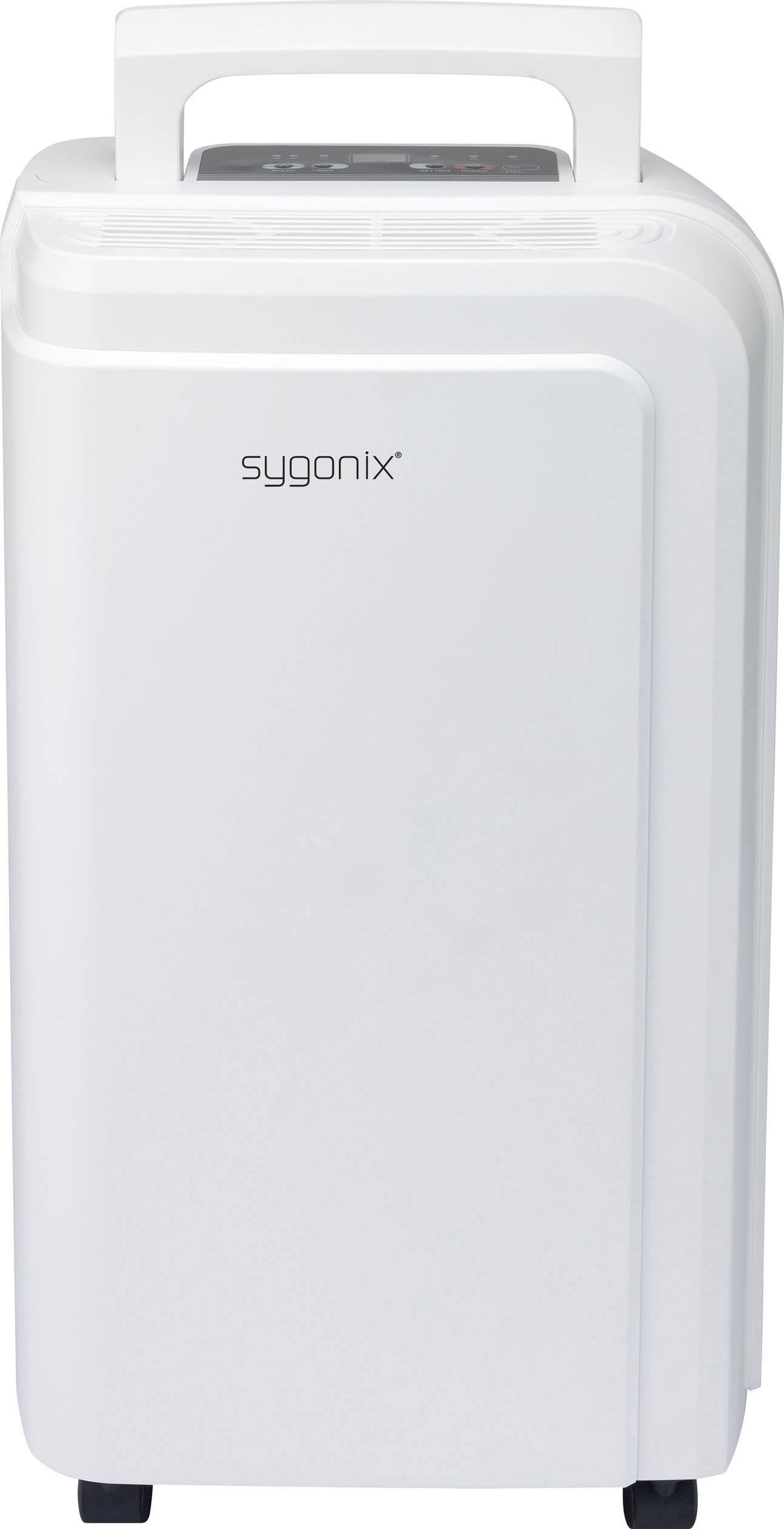Odvlhčovač vzduchu Sygonix D011C-10L, 15 m², 245 W, 0.42 l/h, biela