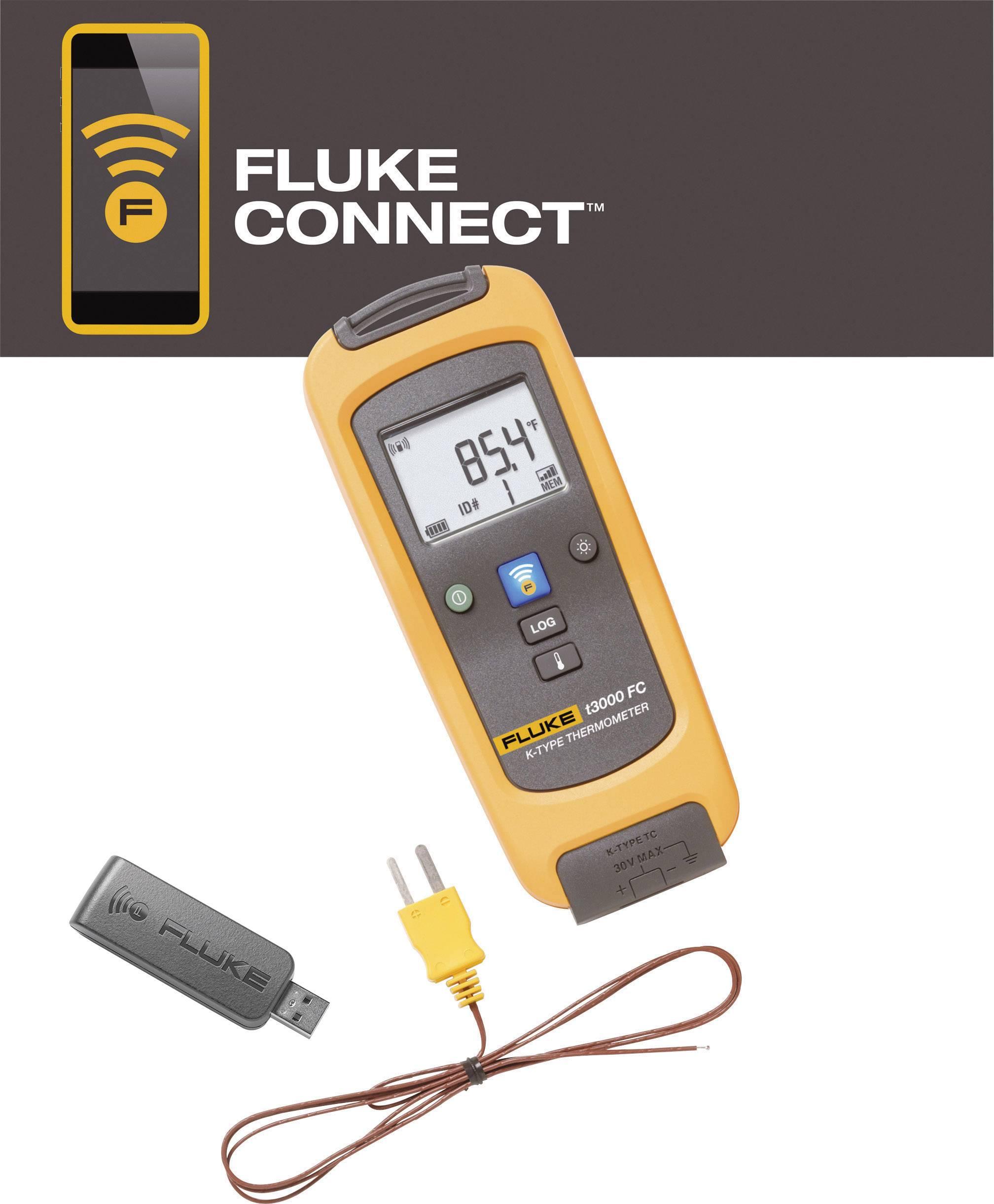 Teploměr Fluke LK-t3000 FC 4401563, -200 až +1372 °C, Kalibrováno dle: vlastní