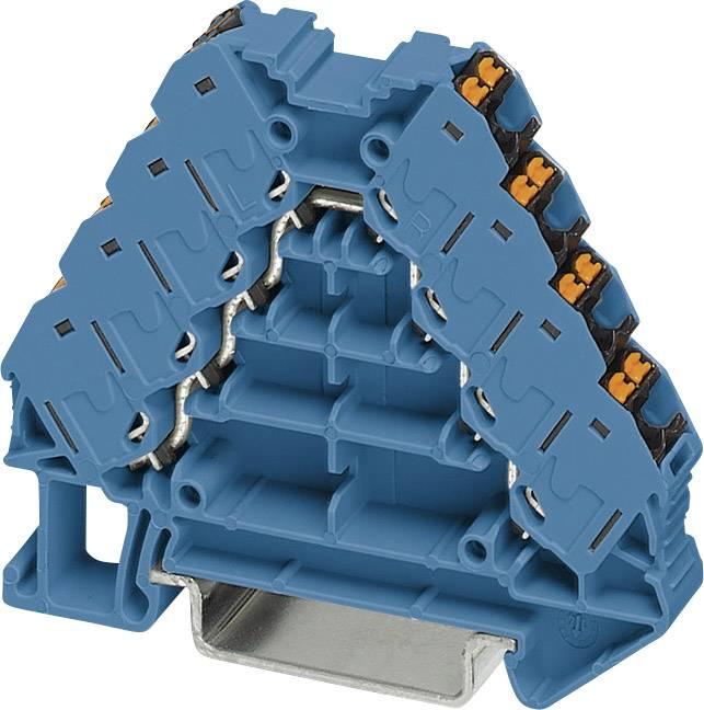 Rozvaděč potenciálu Phoenix Contact PTRV 4-PV BU/BK 3270126, 10 ks, modrá