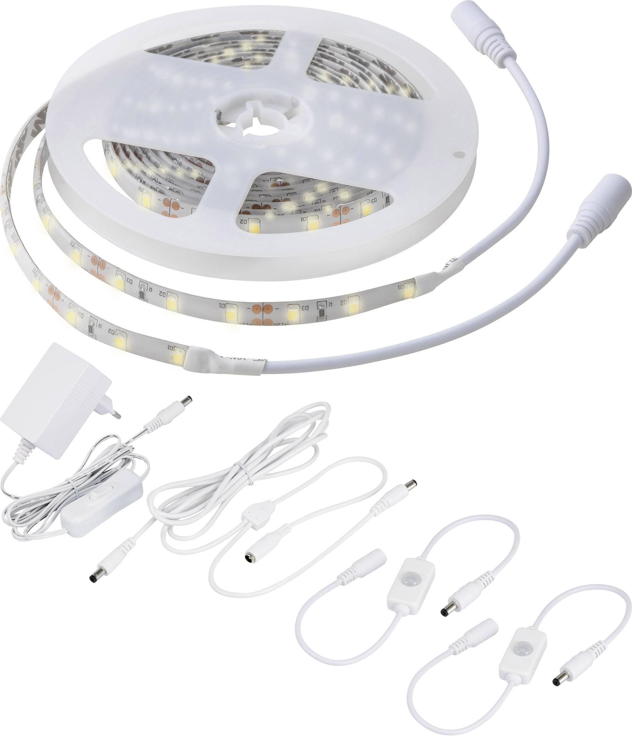 Ohebný LED pásek Polarlite 12 V, 24 W, teplá bílá, 300 cm