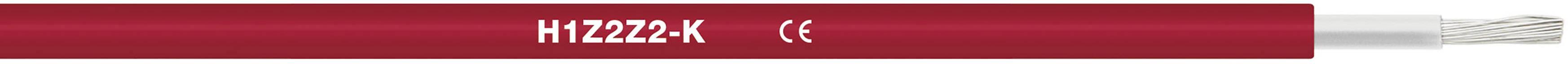 Fotovoltaický kabel H1Z2Z2-K 1 x 4 mm² červená LappKabel 1023572/100 100 m